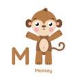 alphabet letter m monkey