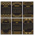Art Deco or Gatsby Calendar 2015 vector image
