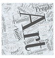 art shows Word Cloud Concept vector image vector image