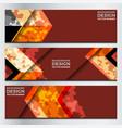 banner geometric design vector image vector image