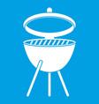 barbecue icon white vector image vector image