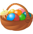 basket of eggs cake vector image vector image