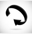black arrow in circular motion flat icon vector image