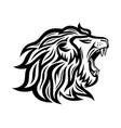 black roaring lion icon vector image