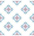 Blue Flower Pattern Emblem Design vector image vector image