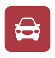 button with the icon of a car vector image vector image