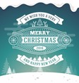 Christmas greeting card vintage design vector image