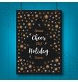 Christmas Holiday Cheer card Xmas poster vector image vector image