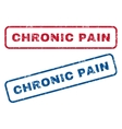 Chronic Pain Rubber Stamps vector image vector image