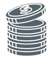 coins stack money and cash isolated icon banking vector image vector image