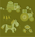 color of agriculture transport vector image