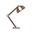 desk lamp light furniture electric icon vector image vector image