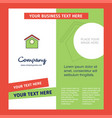 dog house company brochure template busienss vector image vector image