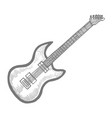 electric guitar in hand-drawn style vector image