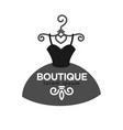 fashion boutique creative emblem in form dress vector image vector image