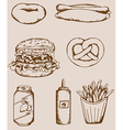 Fastfood vintage icons vector | Price: 1 Credit (USD $1)