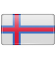 Flags Faroe Islands in the form of a magnet on vector image
