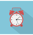 flat alarm clock vector image vector image