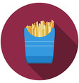 Flat design fried potato icon with long shadow vector image vector image