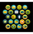 Flat icons set 10 vector image