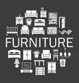 furniture silhouetter icons sale banner set in vector image