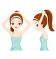 Girl Hair Tie vector image vector image