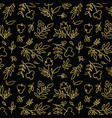 golden flower pattern vector image