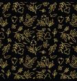 golden flower pattern vector image vector image