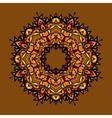Hand drawn ethnic circular beige ornament Vintage vector image