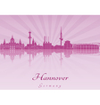 Hannover skyline in purple radiant orchid vector image vector image