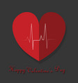 happy valentines day typography design with paper vector image vector image