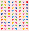 Hearts love theme valentines day seamless pattern