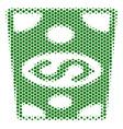 hexagon halftone dollar banknote icon vector image