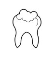 human tooth with toothpaste vector image vector image
