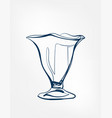 ice cream glass one line art drink isolated sketch vector image