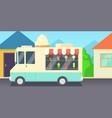 ice cream horizontal banner shop cartoon style vector image vector image