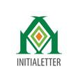 initial letter m logo concept design geometric vector image