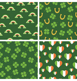 irish patterns vector image vector image