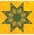 Islamic ornamental green star lace ornament vector image
