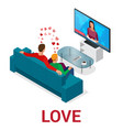 isometric people lgbt gay dating and lesbian vector image