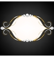 jewelry swirly frame vector image vector image