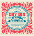 liquor label for packing vector image vector image