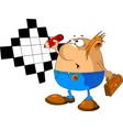 man crossword vector image vector image
