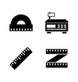 measuring instrument simple related icons vector image