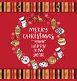 merry christmas gift shopping bag designe 40x40 mm vector image