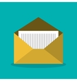 message email envelope icon design vector image