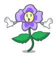 money eye pansy flower mascot cartoon vector image vector image