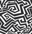 monochrome curved lines seamless texture vector image