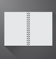 Notebook opened vector image vector image
