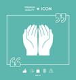open hands icon vector image